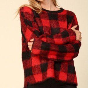 Host pick 💕 Brandless Buffalo Plaid Knit Sweater